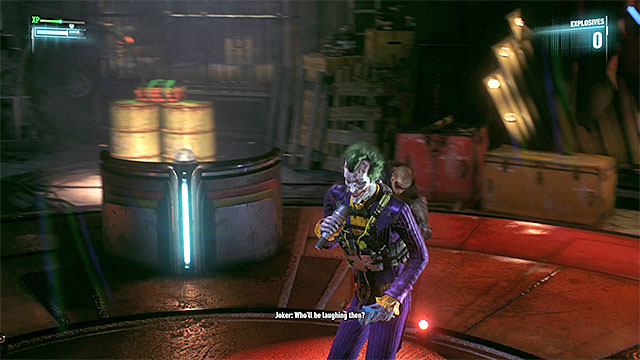 You have to neutralize Johnny using Takedown - Apprehend Johnny Charisma in sound stage C | Main story - Main story - Batman: Arkham Knight Game Guide & Walkthrough