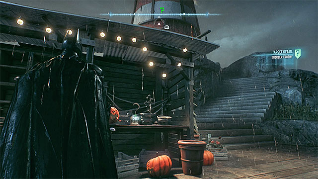 Look around near the lighthouse - Riddler trophies on Bleake Island (19-36) | Collectibles - Bleake Island - Collectibles - Bleake Island - Batman: Arkham Knight Game Guide & Walkthrough