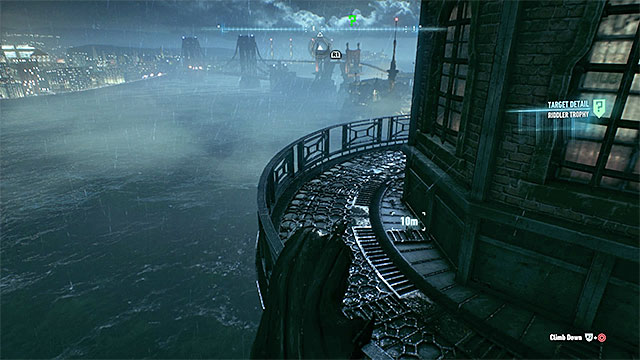 Check the upper balconies of the lighthouse - Riddler trophies on Bleake Island (19-36) | Collectibles - Bleake Island - Collectibles - Bleake Island - Batman: Arkham Knight Game Guide & Walkthrough