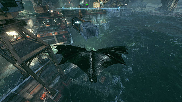 Fly into the container - Riddler trophies on Bleake Island (19-36) | Collectibles - Bleake Island - Collectibles - Bleake Island - Batman: Arkham Knight Game Guide & Walkthrough