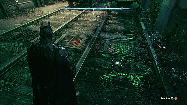 The ventilation shaft will be accessible after moving the locomotive - Riddler trophies on Bleake Island (19-36) | Collectibles - Bleake Island - Collectibles - Bleake Island - Batman: Arkham Knight Game Guide & Walkthrough