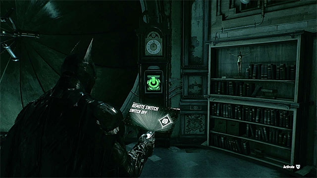 Using the remote hacking device will uncover the secret locker with Batgirls costume - Riddles on Bleake Island - Collectibles - Bleake Island - Batman: Arkham Knight - Game Guide and Walkthrough