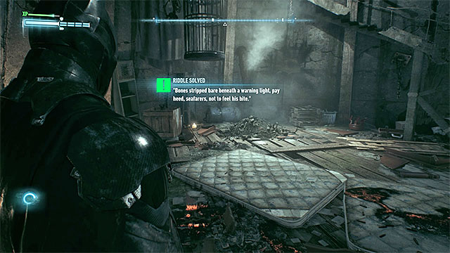 Photograph the human remains in the lighthouse - Riddles on Bleake Island - Collectibles - Bleake Island - Batman: Arkham Knight - Game Guide and Walkthrough