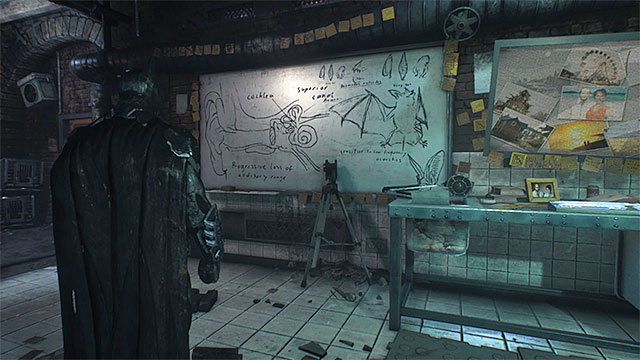 Scan the board in the laboratory - Riddles on Bleake Island - Collectibles - Bleake Island - Batman: Arkham Knight - Game Guide and Walkthrough