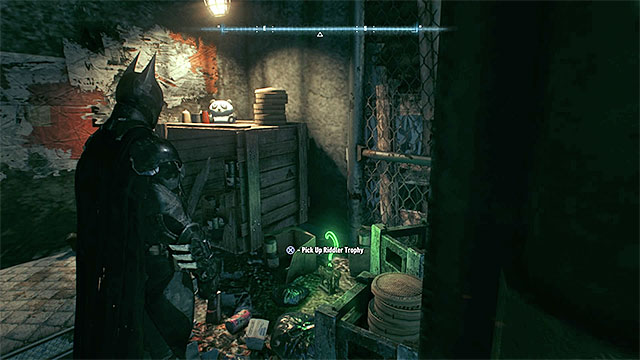 Examine the territory under the bridge - Riddler trophies on Miagani Island (1-19) | Collectibles - Miagani Island - Collectibles - Miagani Island - Batman: Arkham Knight Game Guide & Walkthrough
