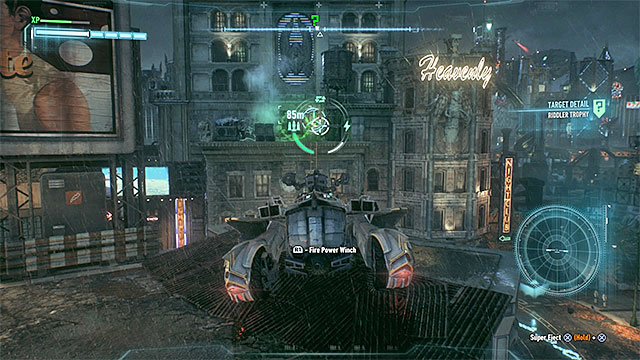 Theres a jump on the highest level of the parking - Riddler trophies on Miagani Island (1-19) | Collectibles - Miagani Island - Collectibles - Miagani Island - Batman: Arkham Knight Game Guide & Walkthrough