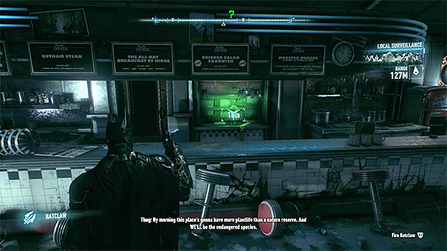 You will notice the trophy behind the counter - Riddler trophies on Miagani Island (1-19) | Collectibles - Miagani Island - Collectibles - Miagani Island - Batman: Arkham Knight Game Guide & Walkthrough