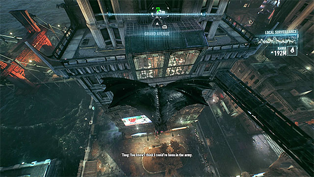 Glide towards the glass wall of the building and get through it - Riddler trophies on Miagani Island (1-19) | Collectibles - Miagani Island - Collectibles - Miagani Island - Batman: Arkham Knight Game Guide & Walkthrough
