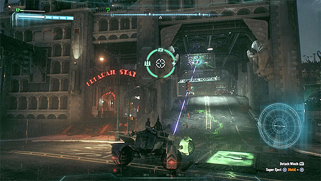 Required gadgets: Batmobile, winch, suppressive fire, batclaw - Riddler trophies on Miagani Island (20-38) | Collectibles - Miagani Island - Collectibles - Miagani Island - Batman: Arkham Knight Game Guide & Walkthrough