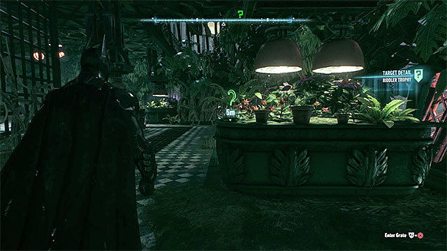 Check the greenhouse - Riddler trophies on Miagani Island (20-38) - Collectibles - Miagani Island - Batman: Arkham Knight - Game Guide and Walkthrough