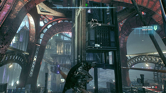 Required gadgets: grappling hook - Riddler trophies on Miagani Island (20-38) | Collectibles - Miagani Island - Collectibles - Miagani Island - Batman: Arkham Knight Game Guide & Walkthrough