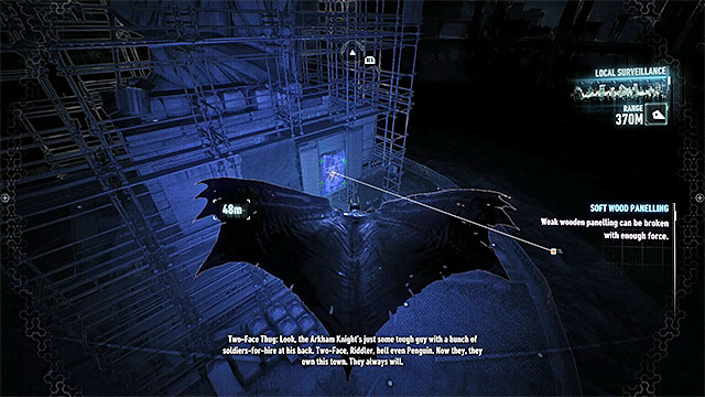 Find the weakened wall at the base of Lady of Gotham statue - Riddler trophies on Miagani Island (20-38) | Collectibles - Miagani Island - Collectibles - Miagani Island - Batman: Arkham Knight Game Guide & Walkthrough
