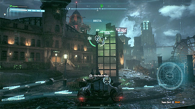 Start with catching the upper hook - Riddler trophies on Miagani Island (20-38) | Collectibles - Miagani Island - Collectibles - Miagani Island - Batman: Arkham Knight Game Guide & Walkthrough