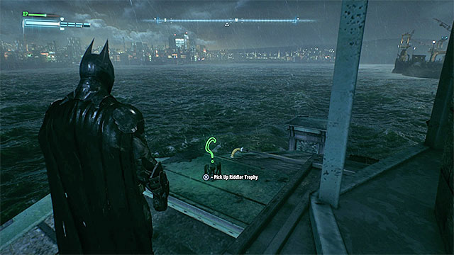 Reach the end of the pier - Riddler trophies on Miagani Island (20-38) - Collectibles - Miagani Island - Batman: Arkham Knight - Game Guide and Walkthrough