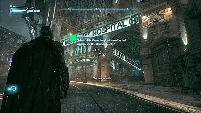 Scan the hospital logo from a distance - Riddles on Miagani Island | Collectibles - Miagani Island - Collectibles - Miagani Island - Batman: Arkham Knight Game Guide & Walkthrough