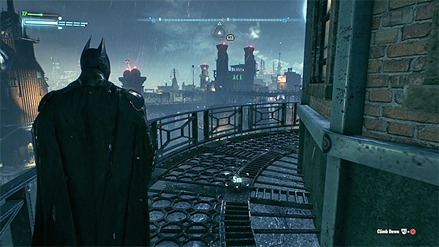 Reach the top of the lighthouse - Riddler trophies on Founders Island (1-16) | Collectibles - Founders Island - Collectibles - Founders Island - Batman: Arkham Knight Game Guide & Walkthrough