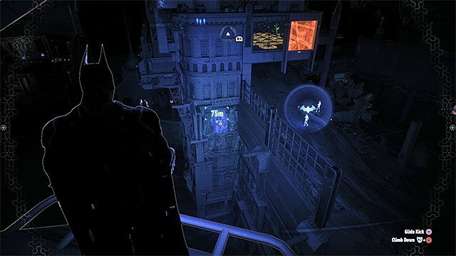 You must hit the weakened wall - Riddler trophies on Founders Island (1-16) | Collectibles - Founders Island - Collectibles - Founders Island - Batman: Arkham Knight Game Guide & Walkthrough