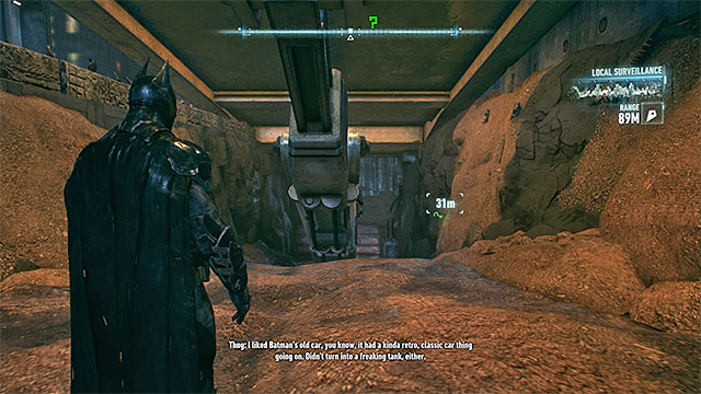 Check the territory under the ramp - Riddler trophies on Founders Island (1-16) | Collectibles - Founders Island - Collectibles - Founders Island - Batman: Arkham Knight Game Guide & Walkthrough
