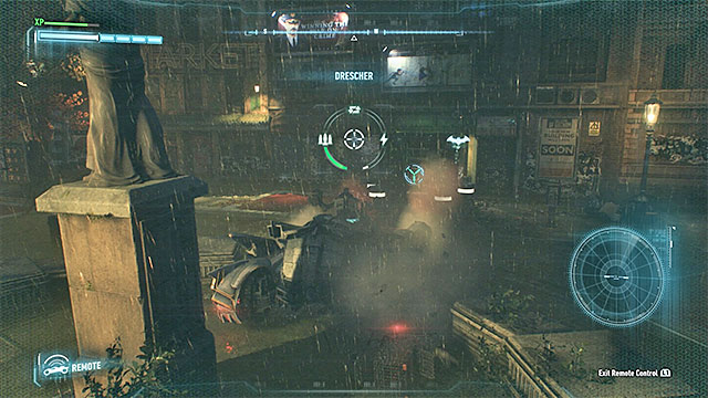 Use the winch twice (the second time to avoid being crushed) - Riddler trophies on Founders Island (1-16) | Collectibles - Founders Island - Collectibles - Founders Island - Batman: Arkham Knight Game Guide & Walkthrough