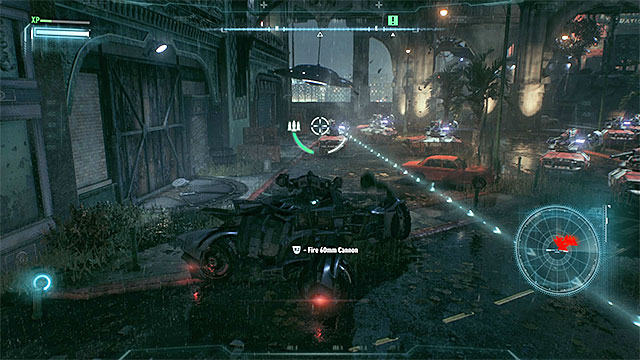 There are more tanks in front of the film studio. - Destroy the squadron of drone tanks | Main story - Main story - Batman: Arkham Knight Game Guide & Walkthrough
