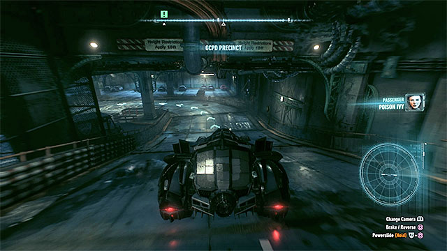 Park the Batmobile in the police station underground parking lot. - Take Ivy to the GCPD lockup - Main story - Batman: Arkham Knight - Game Guide and Walkthrough