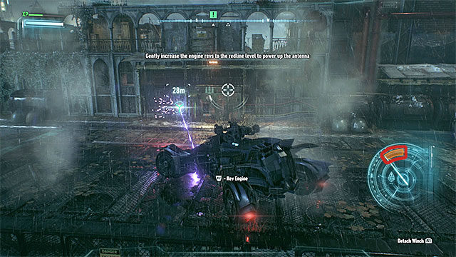 Mind the revolution gauge - it needs to match the orange area. - Use Panessa Studio antenna | Main story - Main story - Batman: Arkham Knight Game Guide & Walkthrough