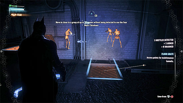 Use the ventilation shaft to get to a seemingly inaccessible room. - Use the antenna at the Falcone Shipping Yard - Main story - Batman: Arkham Knight - Game Guide and Walkthrough