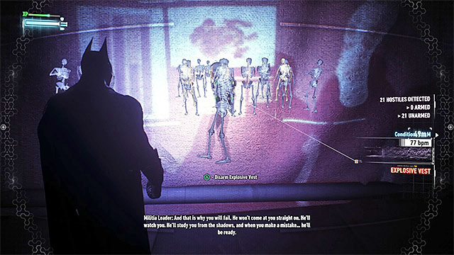 Activate the takedown after you reach the other side of the projector screen - Find commissioner Gordon in the shopping mall | Main story - Main story - Batman: Arkham Knight Game Guide & Walkthrough