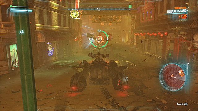 Plan your attacks on Cobra tanks carefully so that you wont get caught by other enemies - Arkham Knight - second encounter (Cloudburst tank battle) | Boss fights - Boss fights - Batman: Arkham Knight Game Guide & Walkthrough