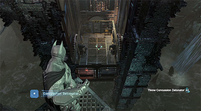Attack the enemies on the elevator by surprise - Uplink the National Criminal Database to the batcomputer - Main storyline - Batman: Arkham Origins - Game Guide and Walkthrough