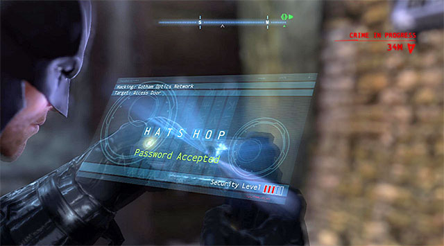 As you have probably noticed, you are now in a closed location so, you need to use the Cryptographic Sequencer on the local control panel - Access the Gotham Merchants Bank - Main storyline - Batman: Arkham Origins - Game Guide and Walkthrough