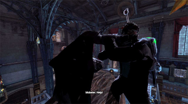 An important new element of this event is that, in the bank, you will meet an enemy using a disrupting device for the first time so, you will not be able to use the detective vision at first, to follow the actions of the other enemies - Apprehend the Joker - Main storyline - Batman: Arkham Origins - Game Guide and Walkthrough