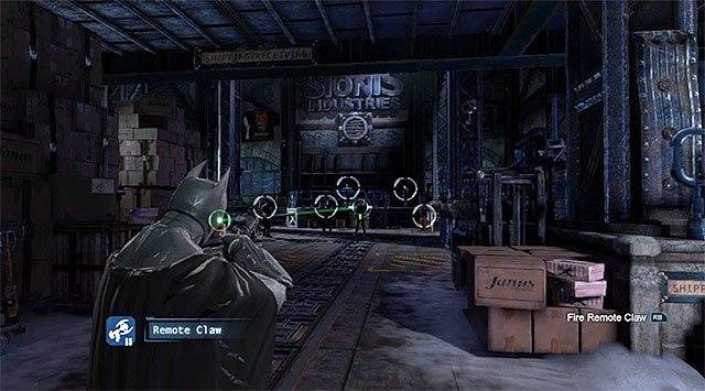 Using the grapple is a good idea to start the fights - Investigate the steel mill - exploring the mill - Main storyline - Batman: Arkham Origins - Game Guide and Walkthrough