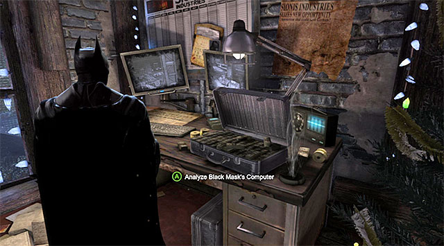 Sionis's computer - Investigate the steel mill - exploring the mill - Main storyline - Batman: Arkham Origins - Game Guide and Walkthrough