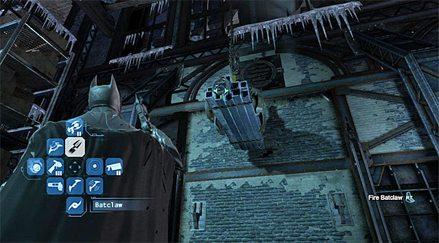 Use the claw on the suspended cargo - Investigate the steel mill - exploring the mill - Main storyline - Batman: Arkham Origins - Game Guide and Walkthrough