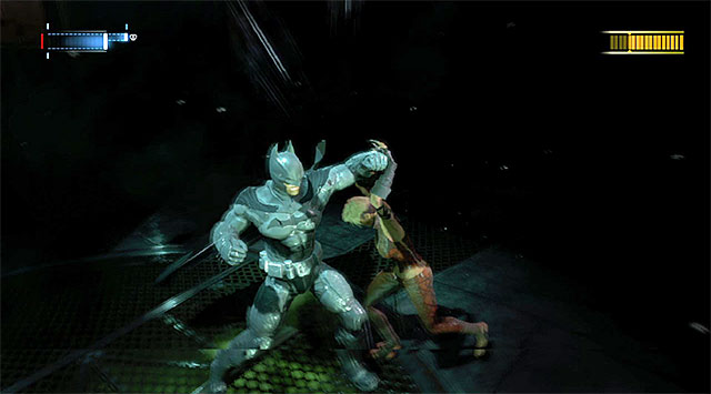 Attacking the actual boss is going to decrease her health bar - Defeat Copperhead - Main storyline - Batman: Arkham Origins - Game Guide and Walkthrough