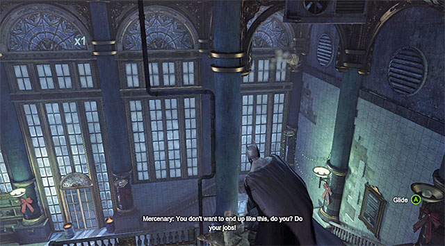 Do not remain atop the statues for too long because batman will start taking damage, and this will draw somebody's attention - Gain access to the penthouse - swimming pool - Main storyline - Batman: Arkham Origins - Game Guide and Walkthrough