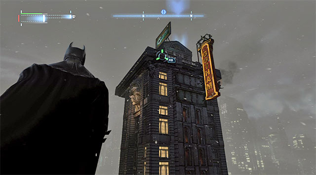 You start this investigation in the tall building (the above screenshots) located in the Western part of The Bowery - Case 1224-4: Helicopter Crash - Casefile Reports - Batman: Arkham Origins - Game Guide and Walkthrough