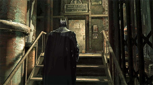 Exit from the location with the elevator shaft - Locate Fireflys bombs - Main storyline - Batman: Arkham Origins - Game Guide and Walkthrough