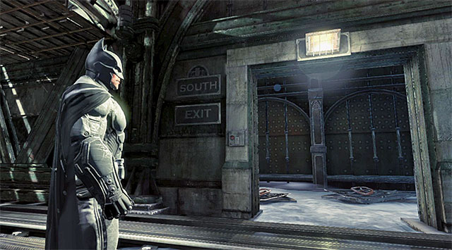 The train station's exit - Disarm the bomb at the south pillar - Main storyline - Batman: Arkham Origins - Game Guide and Walkthrough