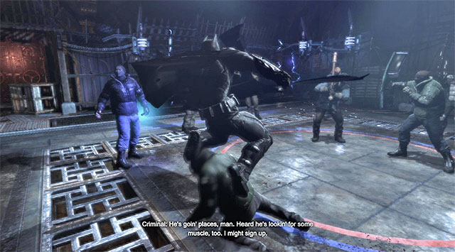Start by attacking the enemy near the venting shaft - Disarm the bomb at the south pillar - Main storyline - Batman: Arkham Origins - Game Guide and Walkthrough