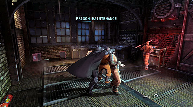 Simultaneous takedown on two enemies - Gain access to Blackgate Prison via the sewers - Main storyline - Batman: Arkham Origins - Game Guide and Walkthrough