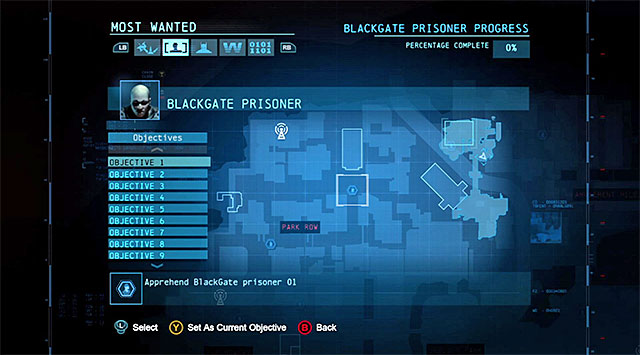 As already mentioned, you need to arrest 20 various people and you can reach them in any order you wish - Escaped Blackgate prisoners - Most Wanted - Batman: Arkham Origins - Game Guide and Walkthrough