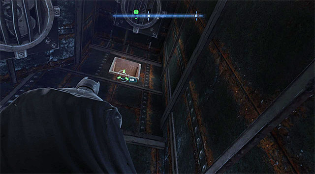 The venting shaft - The tower in the Burnley district - Comms Towers - Batman: Arkham Origins - Game Guide and Walkthrough