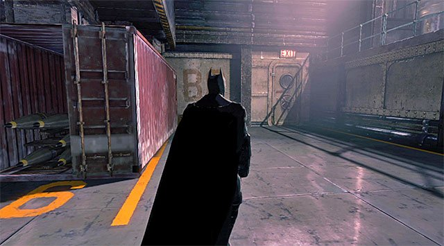 The Boiler Rooms exit - Gain access to Penguins office - Upper Deck - Main storyline - Batman: Arkham Origins - Game Guide and Walkthrough
