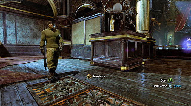 You can use the passages under the floor for hiding and while planning silent takedowns - Gain access to Penguins office - Theatre - Main storyline - Batman: Arkham Origins - Game Guide and Walkthrough