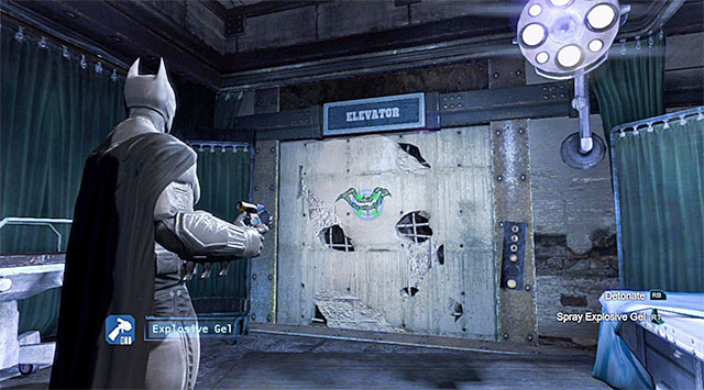 After you are done fighting, go towards the Western passage and reach the Infirmary - Acquire the disruptor at the evidence locker - Main storyline - Batman: Arkham Origins - Game Guide and Walkthrough