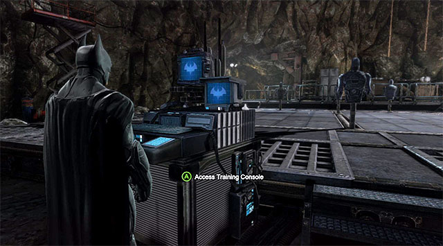 The training console connected with the optional challenges - Dark Knight Challenges - Batman: Arkham Origins - Game Guide and Walkthrough