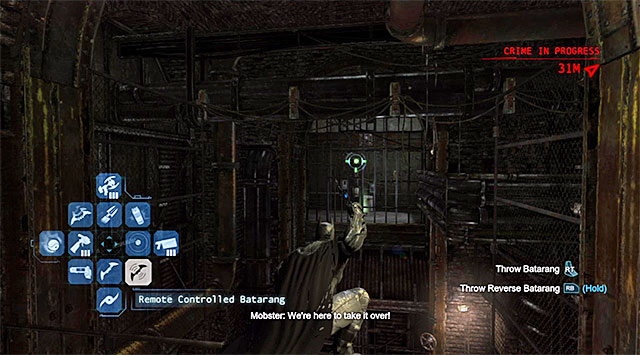 Approach the large vertical shaft shown in the above screenshot, and start by throwing the remote controlled Batarang - The best hidden datapacks - Extortion File 2 (Park Row) - Enigma Datapacks - Batman: Arkham Origins - Game Guide and Walkthrough