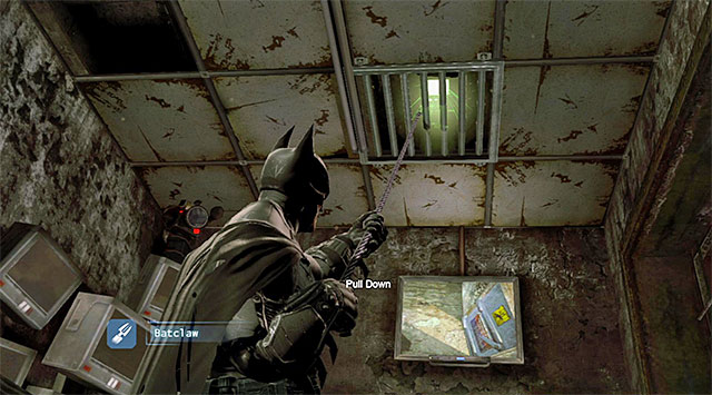 This collectible is in the Banes Field HQ located in the sewers, which you first visit while completing the Locate the tracker placed on Bane main mission - The best hidden datapacks - Extortion File 2 (Park Row) - Enigma Datapacks - Batman: Arkham Origins - Game Guide and Walkthrough